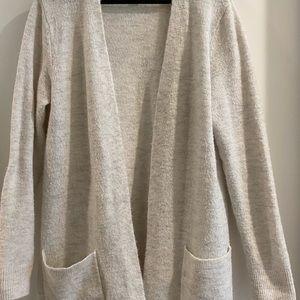Off white long sweater cardigan